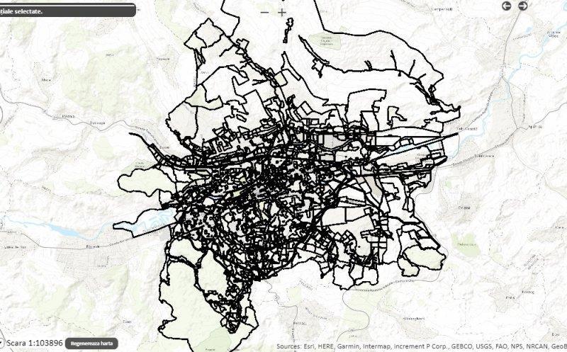 HARTĂ virtuală a urbanismului din Cluj-Napoca