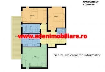 Apartament 3 camere de vanzare in Cluj, zona Manastur, 75000 eur