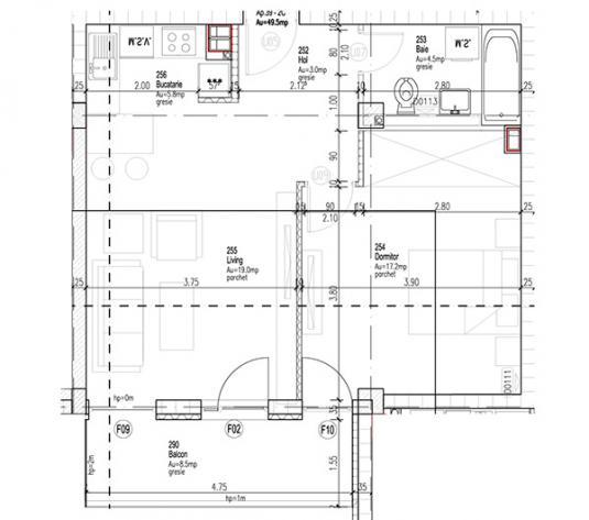 Apartament cu 2 camere Andrei Muresanu