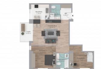 De Vanzare 3 camere  in constructie noua, 78 mp, decomandat, etaj 1/6 in Gheorgheni, Gheorgheni