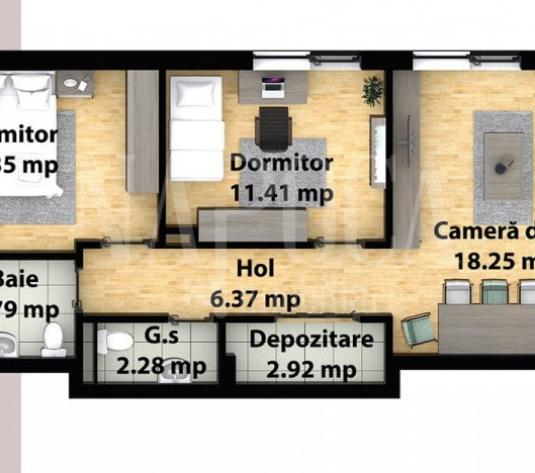 Apartament 3  camere de vanzare in Floresti - imagine 1