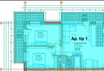 Apartament de vanzare 3 camere  in constructie noua, 58 mp, decomandat, etaj 1/3 in Floresti, Floresti