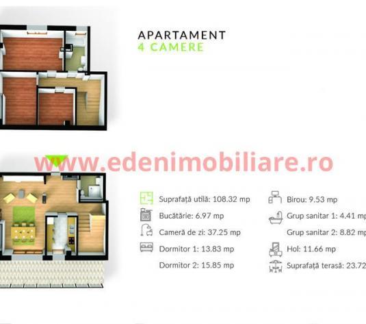 Apartament 4 camere de vanzare in Cluj, zona Gheorgheni, 1200 eur