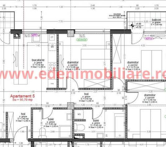 Apartament 4 camere de vanzare in Cluj, zona Buna-Ziua, 133602 eur