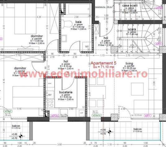 Apartament 4 camere de vanzare in Cluj, zona Buna-Ziua, 112900 eur
