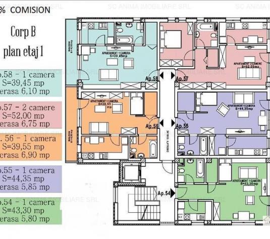 Apartament cu o camera de vanzare zona Calea Turzii, 0% comision