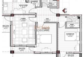 Vanzare apartament 3 camere, 69 mp, zona Baciu