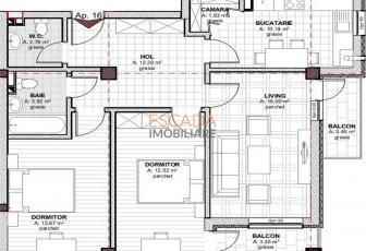 Vanzare apartament 3 camere, 73,70 mp, zona Baciu