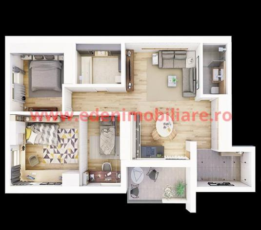 Apartament 3 camere de vanzare in Cluj, zona Centru, 119319 eur - imagine 1