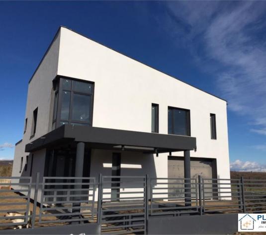 Casa moderna, 200 mp utili, 500 teren, semifinisata, zona Sopor