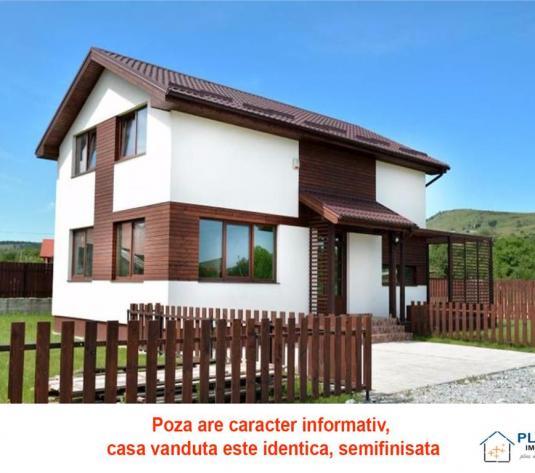 Casa semifinisata in Chinteni, 3 dormitoare, teren 500 mp, acces usor