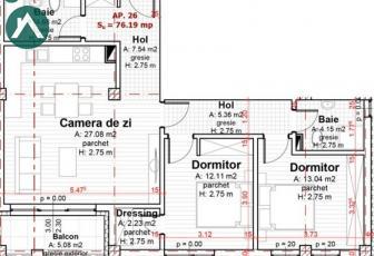 Apartament 3 camere, direct de la dezvoltator  - imagine 1