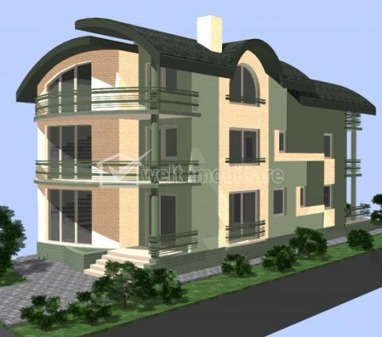 Vanzare casa individuala regim D+P+E+M, 300mp utili, Luna de Sus, Floresti