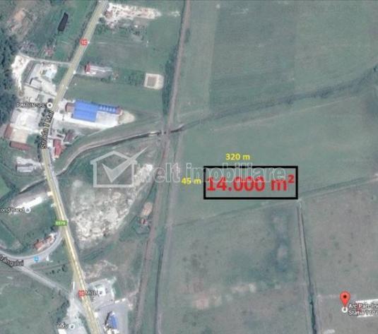 Vanzare teren 14.000 mp, posibilitate ideal dezvoltare parc industrial, Dej