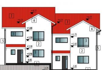 Duplex nou proiect deosebit Borhanci 300 mp teren