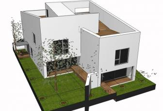 Casa noua cu arhitectura minimalista