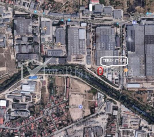Teren Industrial 1700mp pentru constructii zona Muncii Fabrica de Zahar