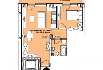 Vanzare apartament 2 camere, 52 mp, zona Calea Turzii!
