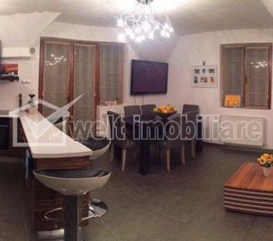 Apartament cu 3 camere in vila, finisat, mobilat, utilat,  zona Auchan