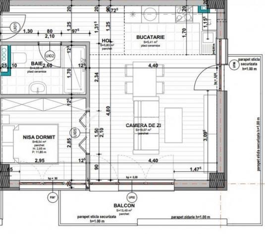 Vindem apartament cu 2 camere, 43 mp, Iris