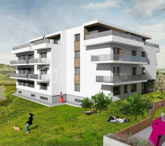 Vanzare apartamente noi, 3 camere, Cluj, Borhanci, terasa 20mp