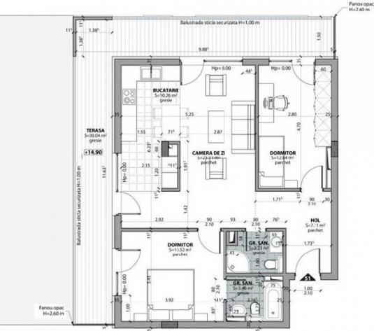 Apartament 3 cam