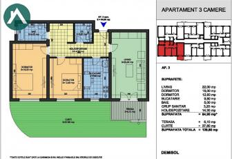 Apartament 3 cu gradina