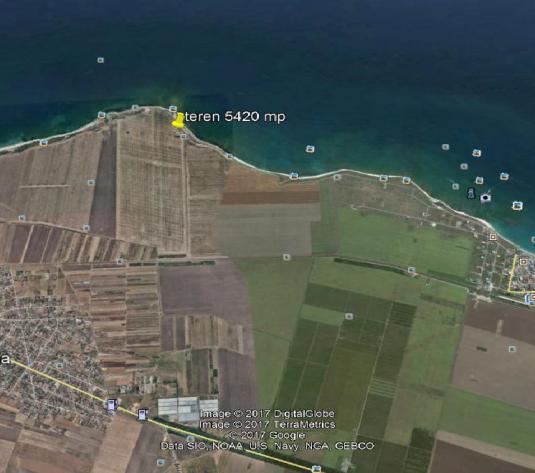 Vand teren primul rand la Marea Neagra Tuzla