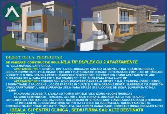 De vanzare Vila tip Duplex cu 2 apartamente in cartierul Gruia,Cluj-Napoca