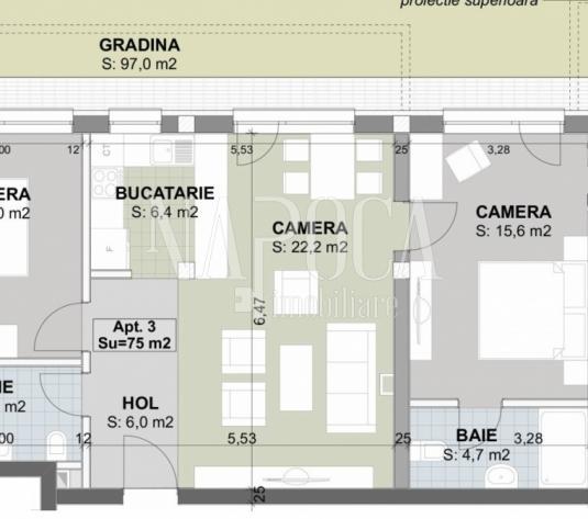 Apartament 3  camere de vanzare in Sannicoara, Sannicoara