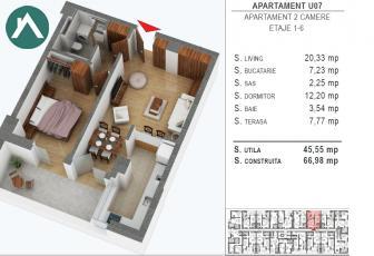 Apartament la cheie direct de la dezvoltator