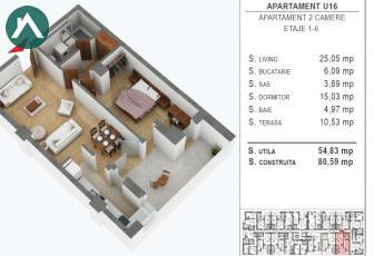 Apartament spatios direct dezvoltator,predare la cheie