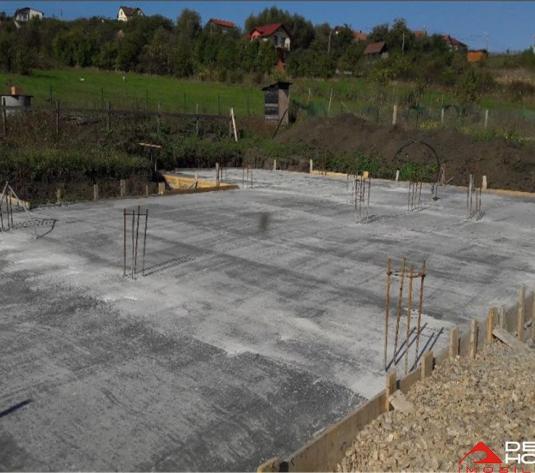Teren Borhanci, 708 mp, autorizatie de constructie, fundatie turnata