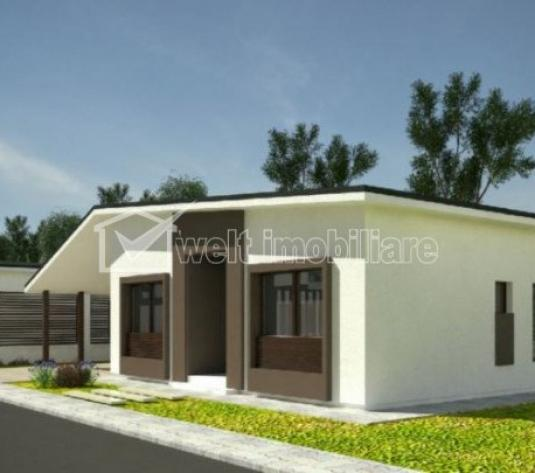 Casa individuala in constructie, 1 nivel, 5 camere, 450mp teren, sat Sannicoara!