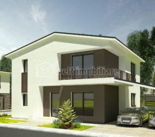 Casa individuala in constructie, 2 niveluri, 450mp teren, sat Sannicoara!