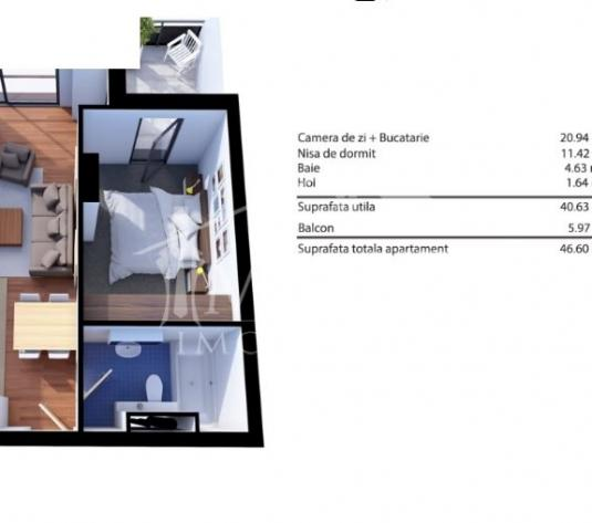 Apartament de vanzare 1 camera  in Cluj Napoca - cartierul Gheorgheni - imagine 1