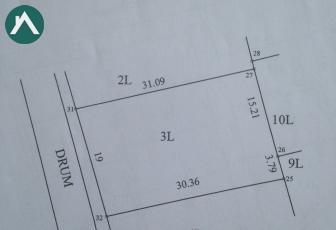Vând teren 583 mp cu CF zona de case