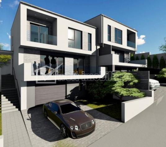 Vanzare casa tip duplex cu 4 camere, 122mp, Floresti zona de case