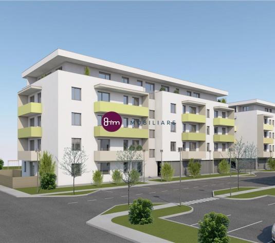 Vanzare apartament 2 camere, 53 mp, cu terasa de 24 mp, Zona Aeroport