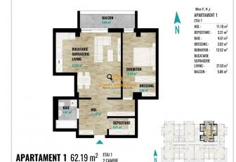 Apartamente 2 camere, suprafete intre 52 si 67mp, Calea Turzii
