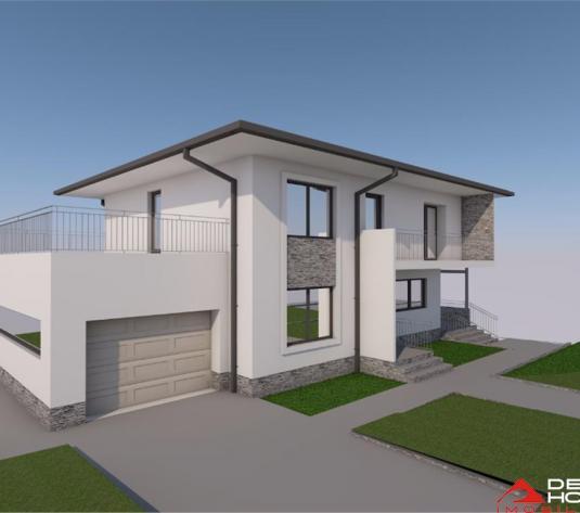 Casa individuala Dezmir, 130 mp, 440 mp teren, semifinisata, garaj