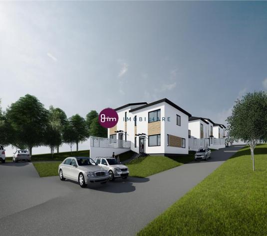 Vanzare Case Cuplate 3 Dormitoare + Birou, 120 mp utili,  zona Baciu !