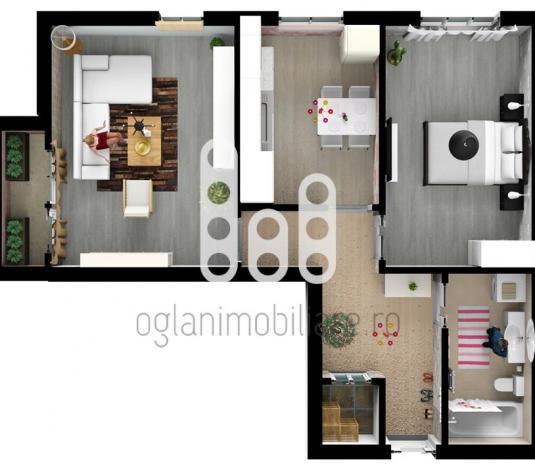 Apartament 2 camere, bucatarie separata, Calea Cisnadiei - imagine 1