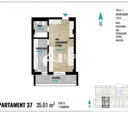 Apartamente de 1 camera imobil nou Calea turzii - imagine 1
