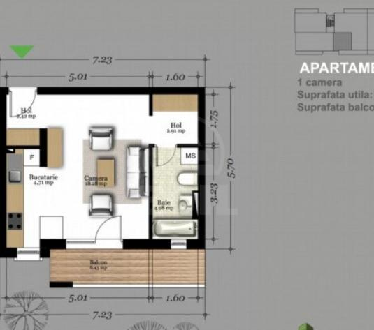 Apartamente de vanzare o camera Floresti, Floresti - imagine 1