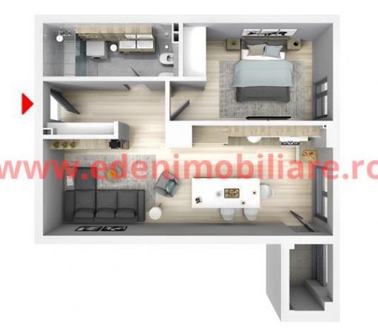 Apartament 2 camere de vanzare in Cluj, zona Floresti, 63810 eur - imagine 1