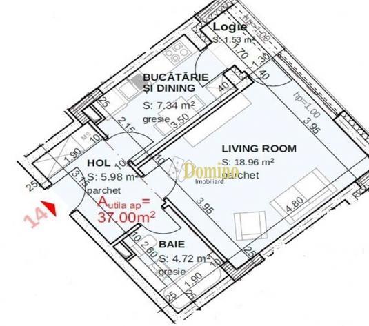 1 Camera Decomandata, Bloc Nou, Parcare, Zona Iulius Mall - imagine 1