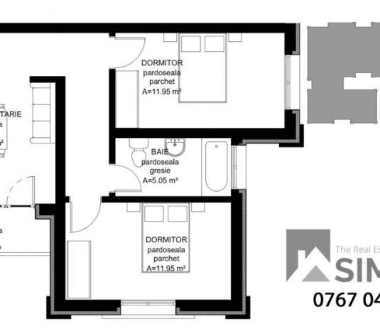 Apartamente 2 camere Ansamblul Mara - imagine 1