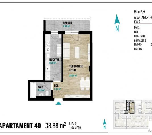 Apartamente noi cu 1 camera in Zorilor - imagine 1