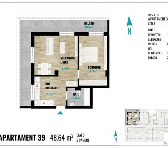Apartamente noi cu 2 camere in cart Europa - imagine 1